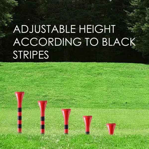 Golf Tees Red/Black 8.3 cm   100 pcs